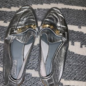 Topshop metallic loafers
